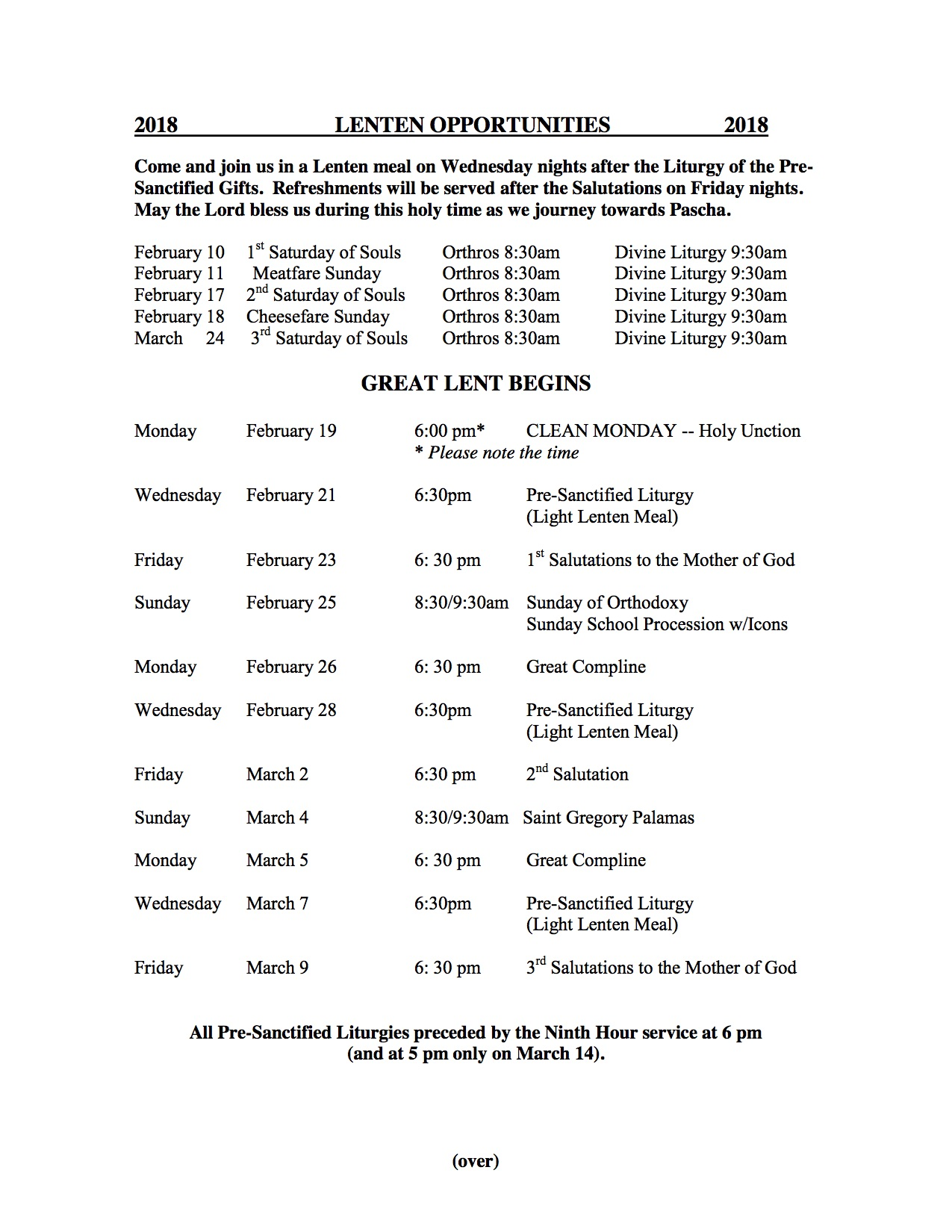 worship and schedule of services st luke greek orthodox church